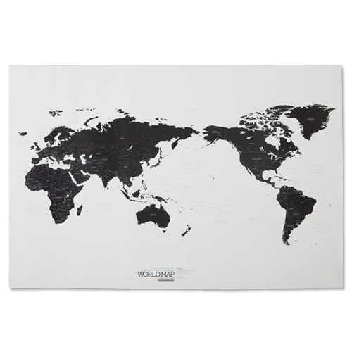 WORLD MAP ver. black&white