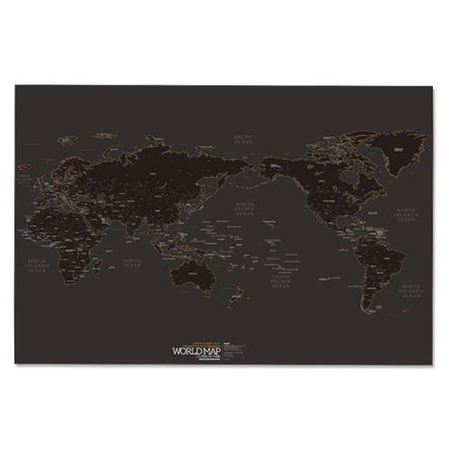 WORLD MAP ver. black