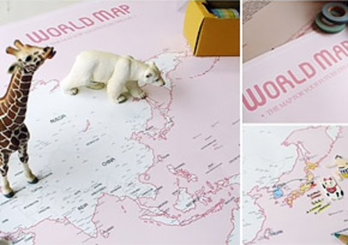 WORLD MAP ver. pink